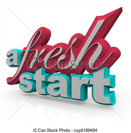 Drawing Of A Fresh Start   3d Words   The Words A Fresh Start In 3d On