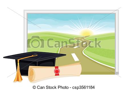 Eps Vector Of Graduation Start To A Bright Future   Graduation Day Is