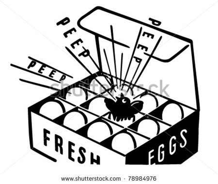 Fresh Eggs   Retro Clipart Illustration   78984976   Shutterstock