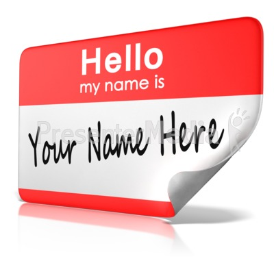 Hello My Name Is Tag Text   Education And School   Great Clipart For