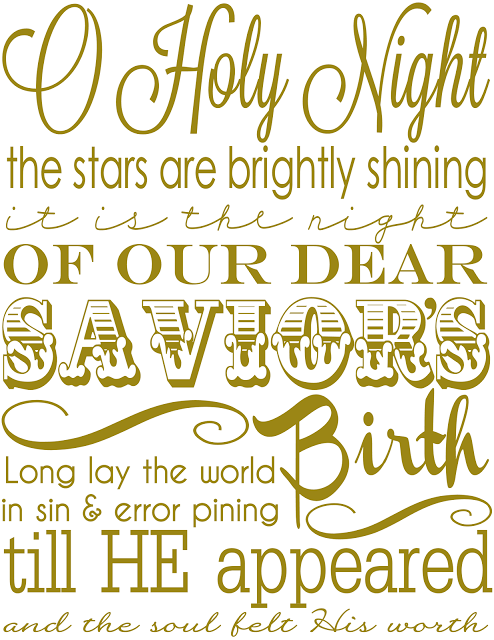 Holy Night Printable From The Girl Creative