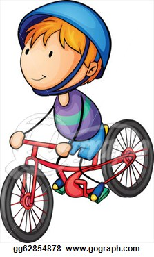 Illustration Of A Boy Riding On A Bicycle  Eps Clipart Gg62854878