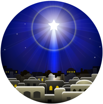 Image  Christmas Star Circle   Christmas Clip Art   Christart Com
