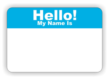 Name Tag Labels  Hello My Name Is
