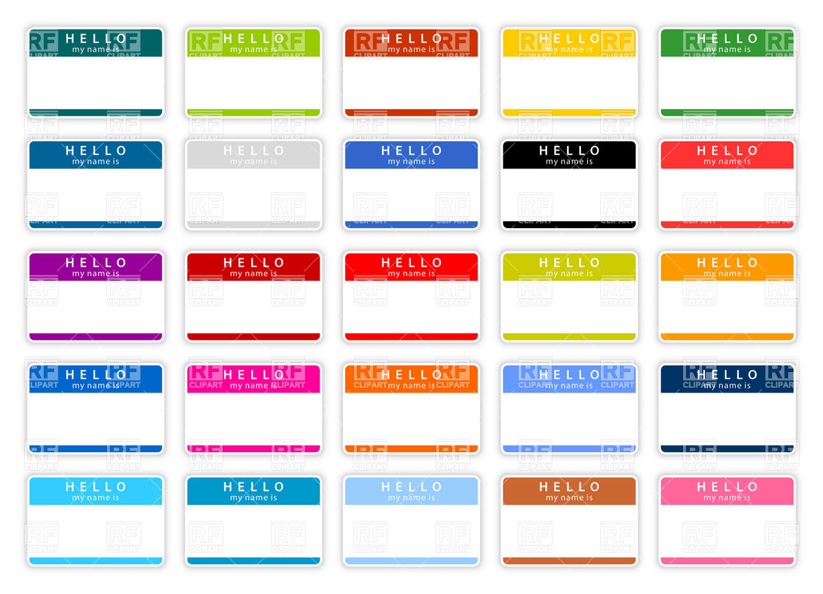 Name Tags Blank Templates Download Royalty Free Vector Clipart Eps