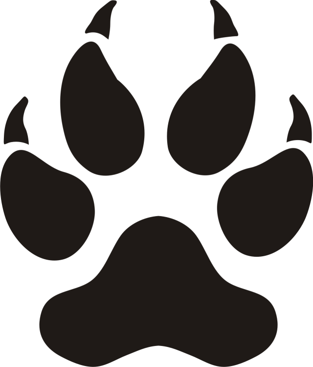Panther Paw Prints Clip Art