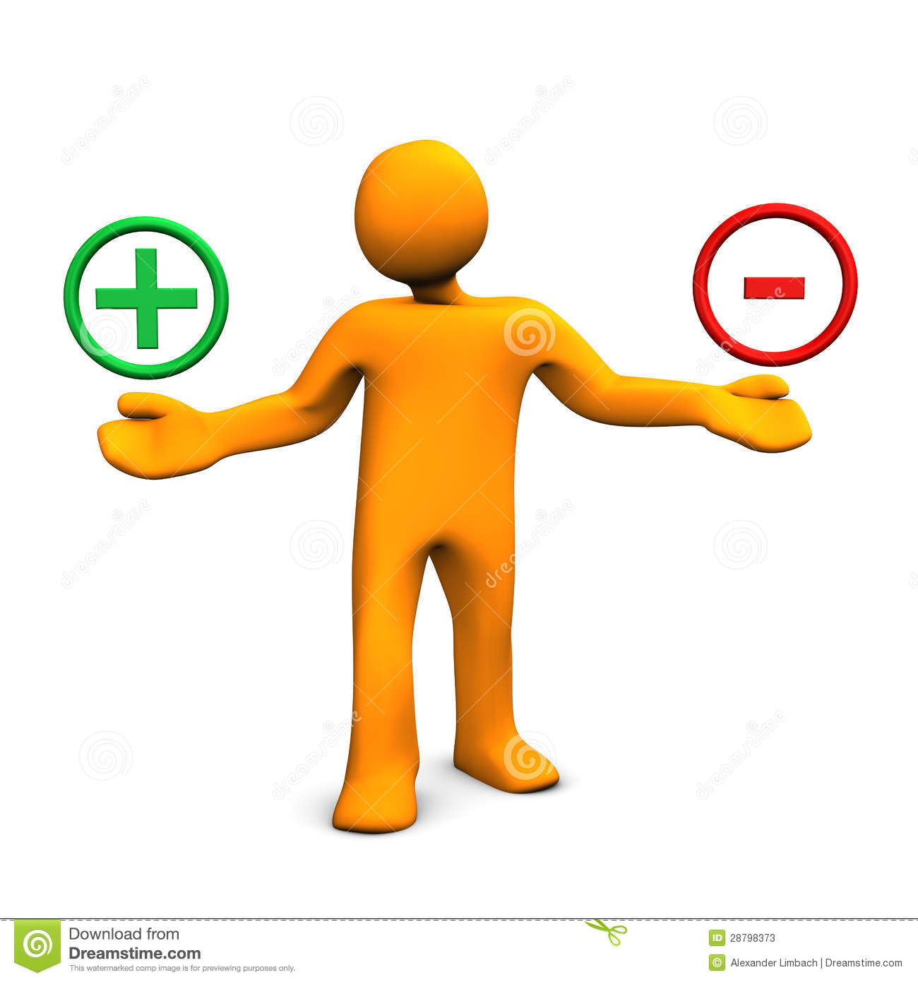 Positive And Negative Clipart Positive And Negative Man