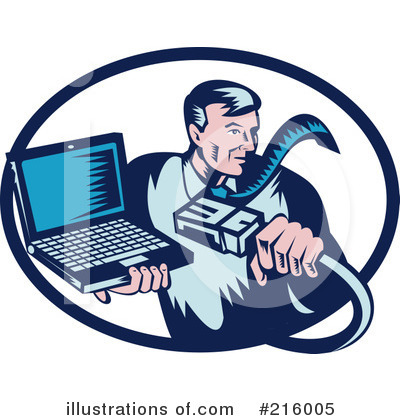 Royalty Free  Rf  Computer Repair Clipart Illustration By Patrimonio
