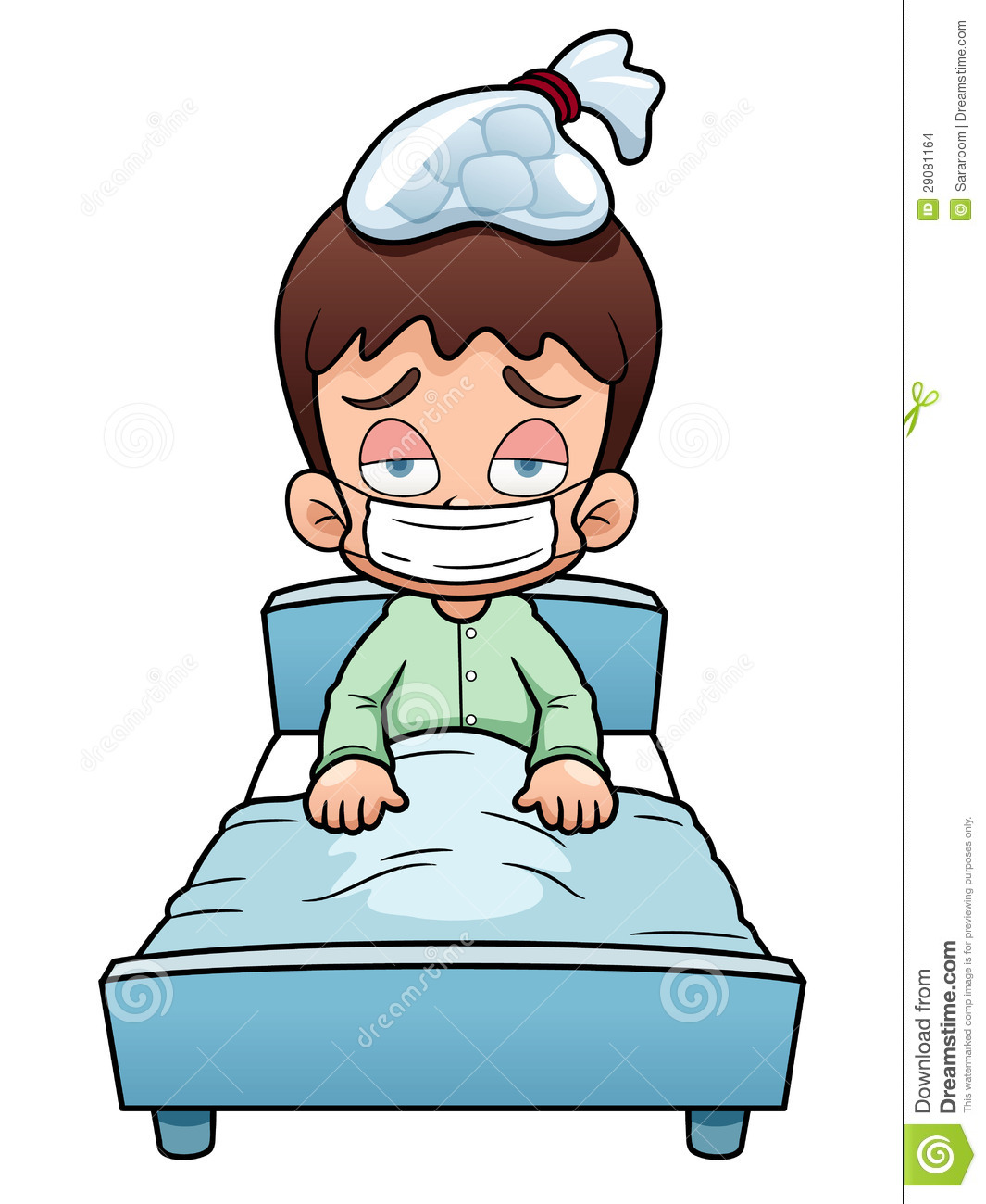 Sick Boy Cartoon Stock Images   Image  29081164