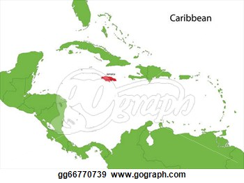 Stock Illustration   Jamaica Map  Clipart Drawing Gg66770739