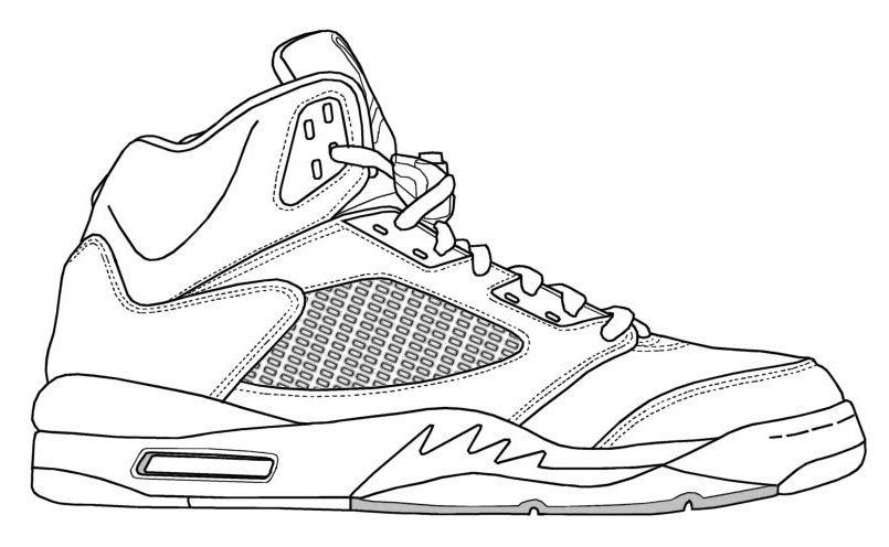 Nike free colouring pages for Coloring pages shoes printable