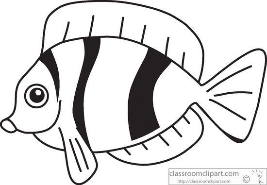 Fish Black Clipart - Clipart Kid