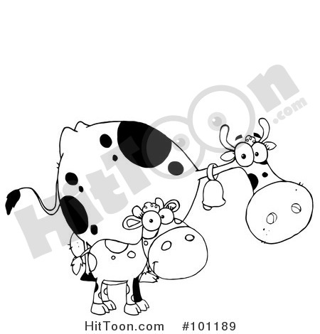 Black And White Calf Clipart Dairy Cow Clipart   Vectors  1
