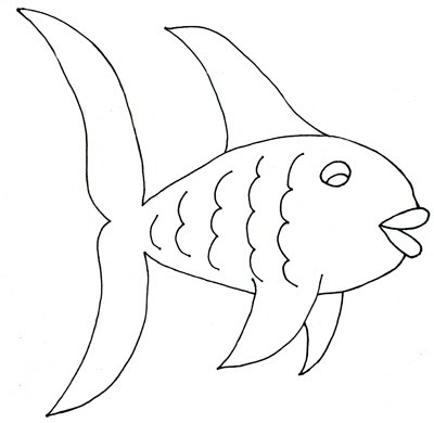 Black And White Fish Clipart Jpg