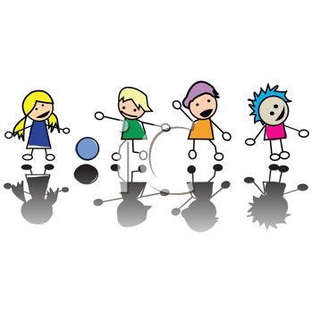 Clipart 0511 1002 1005 3729 Stick Kids Playing Together Clipart Image