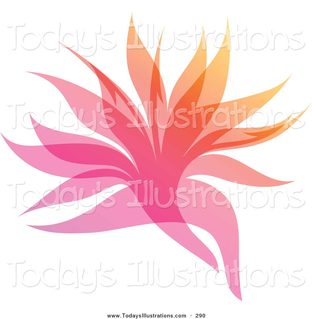 Clipart Of A Purple And Pink Gradient Leaf Overlay Logo Icon By Elena