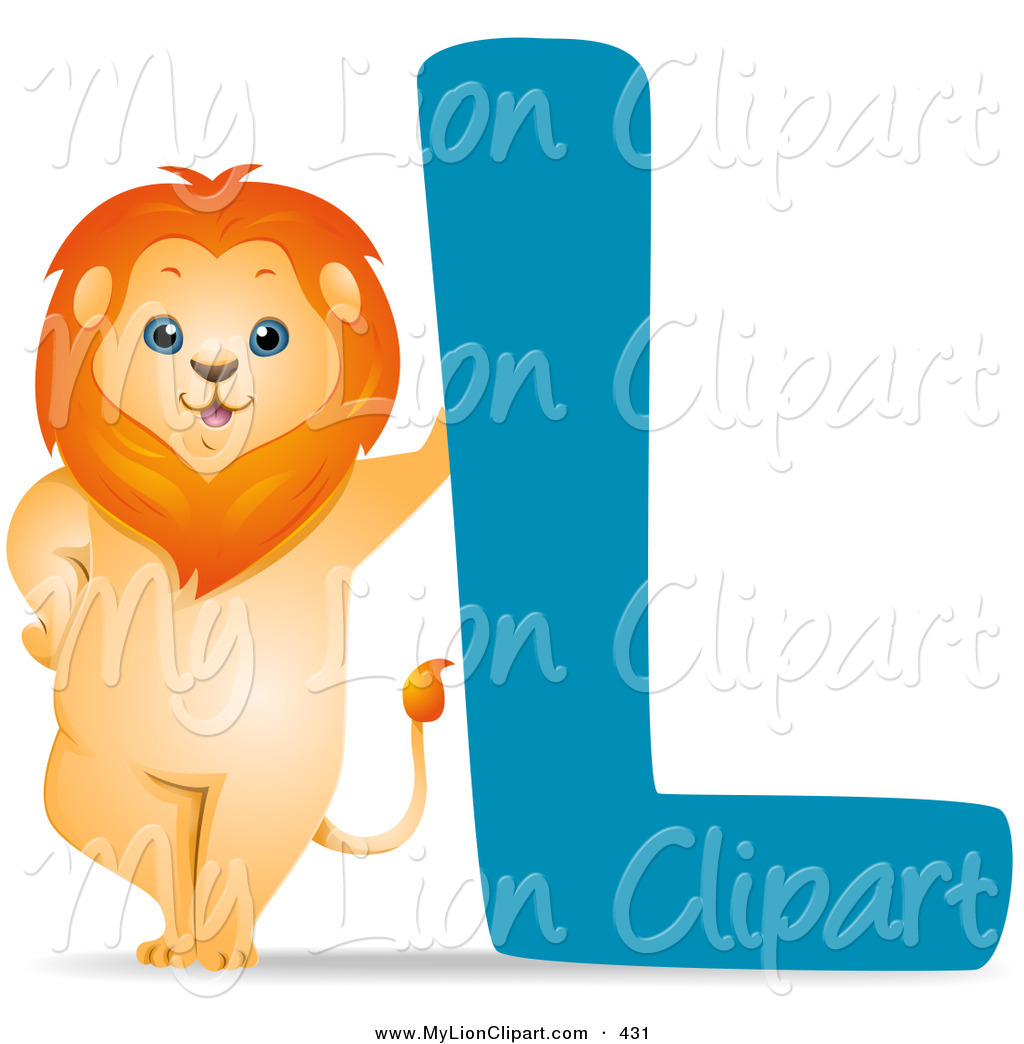 Clipart Of An Animal Alphabet With A Lion By The Letter L By Bnp Image