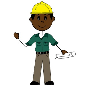 Contractor Clipart Image  Clip Art Illustration Of An African American