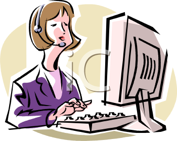 Data Entry Clerk   Royalty Free Clip Art Illustration
