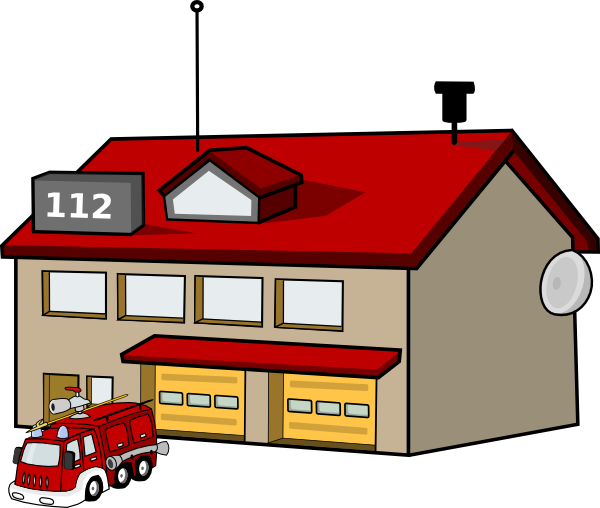 Fire Station Clip Art At Clker Com Vector Clip Art Online Royalty