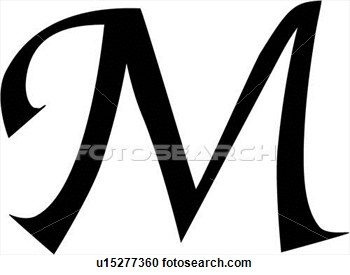Fancy Letter M Clipart - Clipart Kid