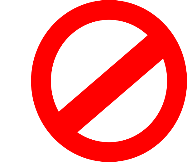Transparent no symbol clipart clipart suggest for Free clipart no copyright