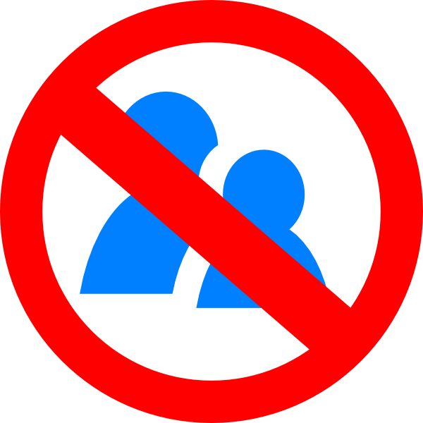 No Talking Symbol Clip Art At Clker Com   Vector Clip Art Online