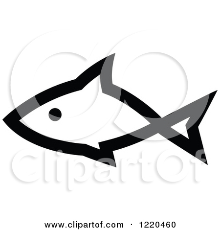 Royalty Free  Rf  Black And White Fish Clipart   Illustrations  1