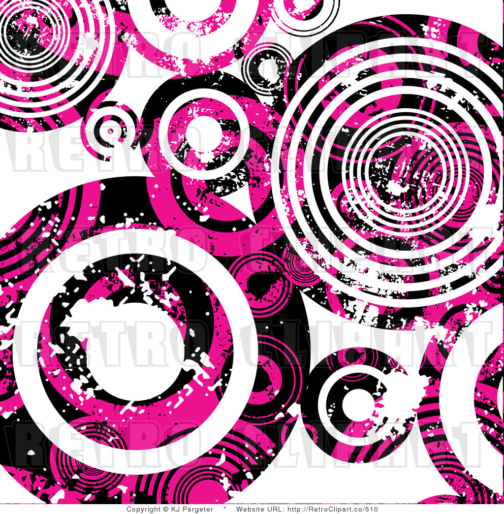 Royalty Free  Rf  Retro Clipart Illustration Of Grungy Pink Circles