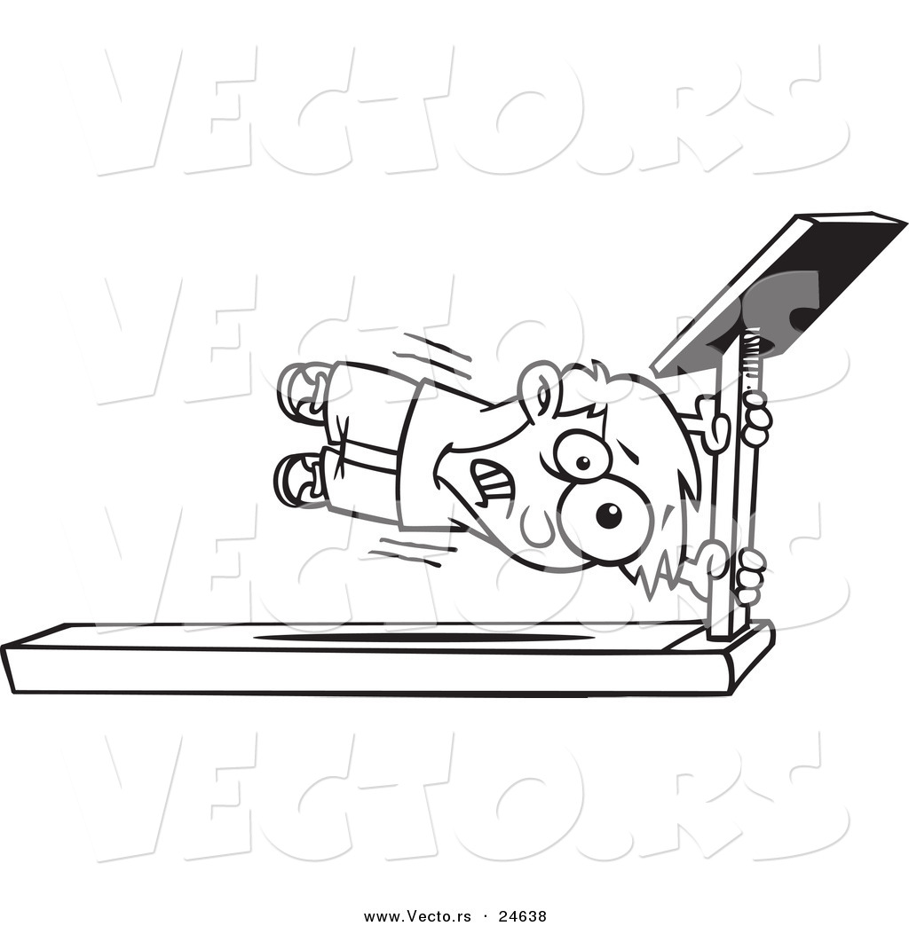 Royalty Free Treadmill Stock Clipart Illustrations