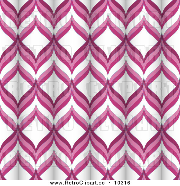 Vector Clipart Of A Pink And White Retro Tubular Pattern