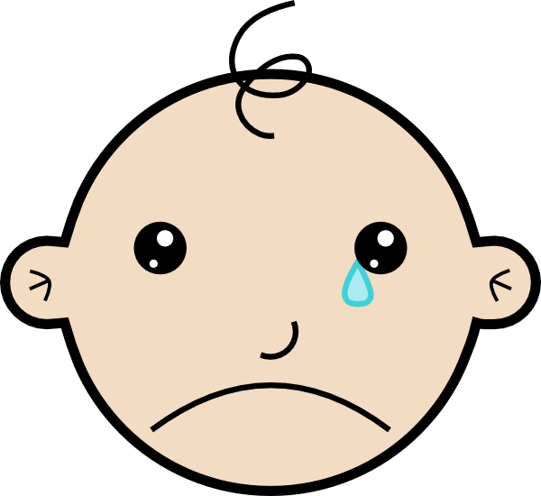 Baby Crying Clip Art At Clker Com   Vector Clip Art Online Royalty