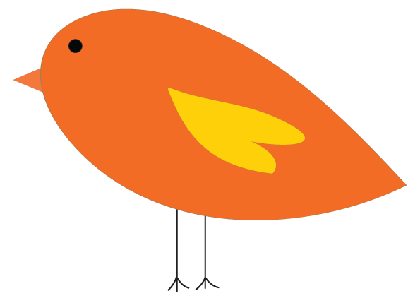 Cute fat bird clipart
