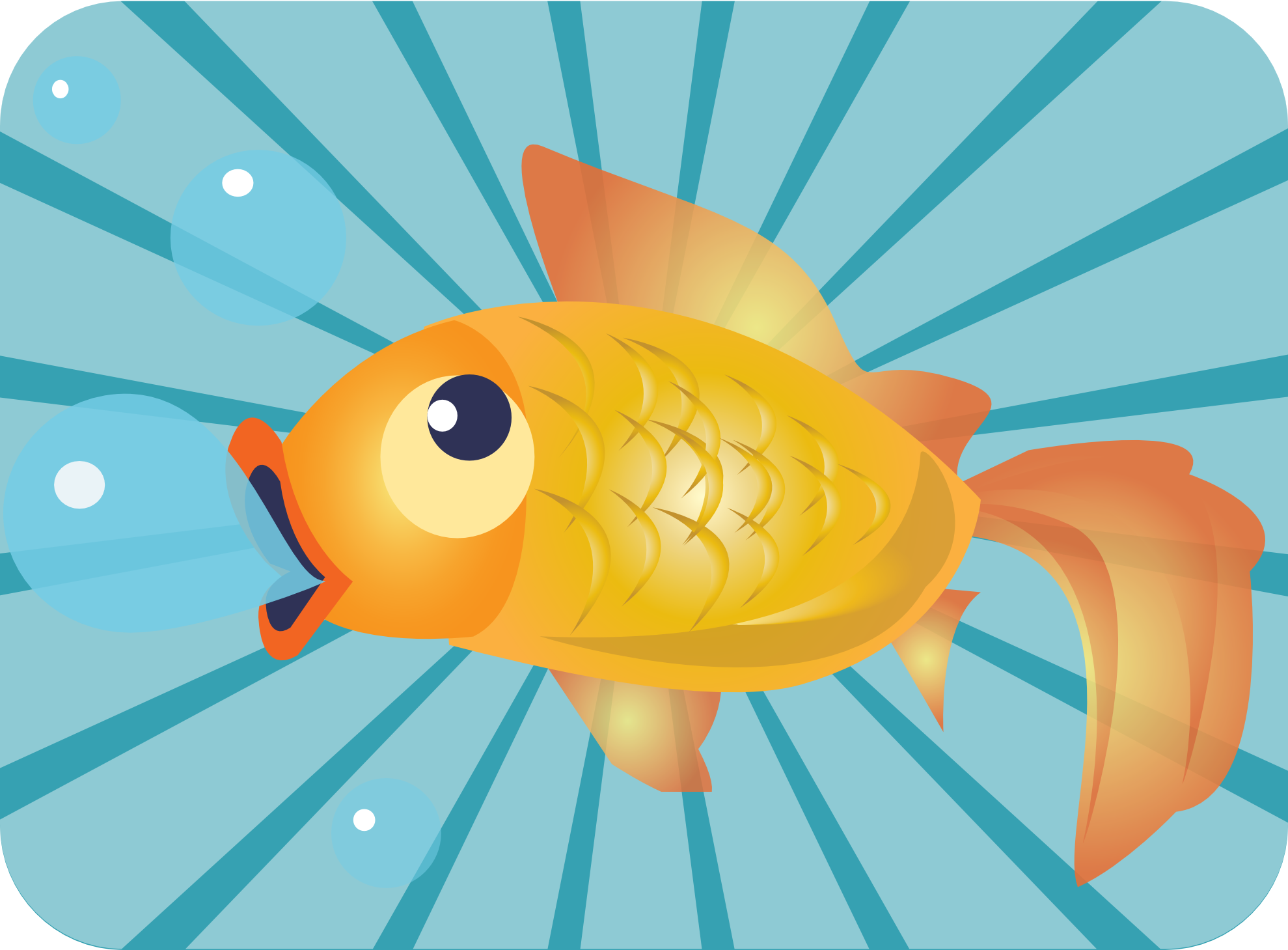 Cartoon Goldfish Clip Art Gold Fish Clipart Picture