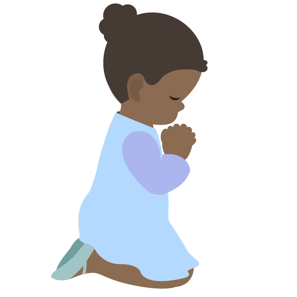 Child Prayer Clipart Children Praying Clipart 9940 Png