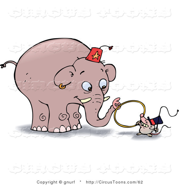 Circus Clipart Of A Little Mouse Holding A Whip And A Tiny Hoop