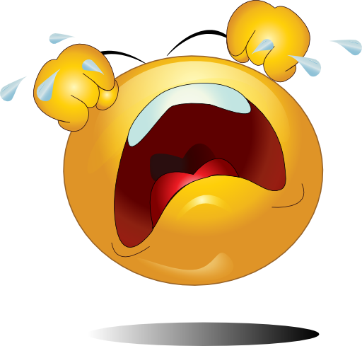 Crying Smiley Emoticon Clipart   Royalty Free Public Domain Clipart