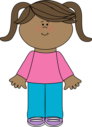 Cute Little Girl Clip Art