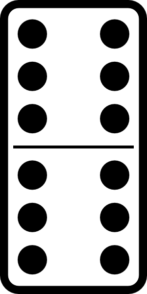 Domino Set 27 Clip Art