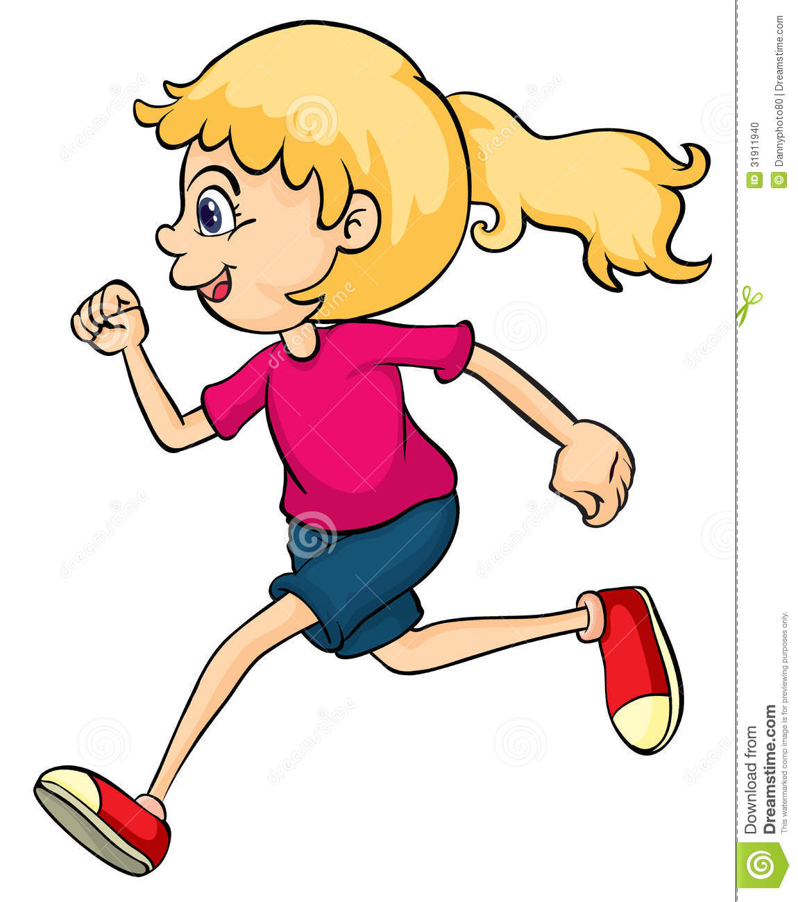 Girl Running Clipart   Clipart Panda   Free Clipart Images