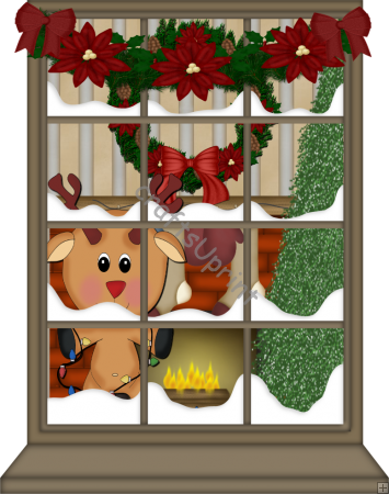 Home    Clip Art Singles    Christmas    C132   Christmas Window