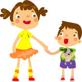Hugging Sister Holding Brother Arms Valueclips Clip Art Rf Royalty