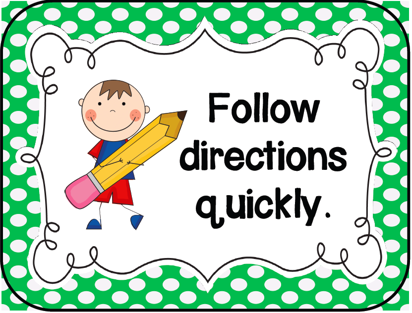 Students Following Directions Clipart - Clipart Suggest