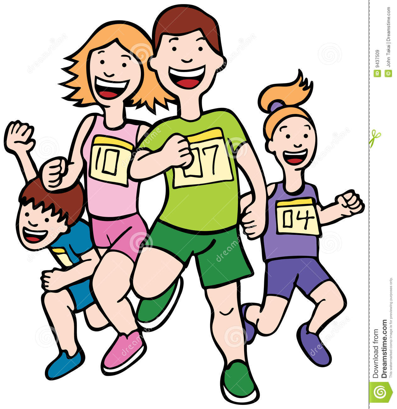 Group Running Clipart - Clipart Kid