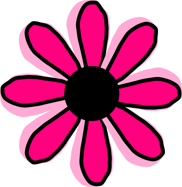 Pink Flower 12 Clip Art At Clker Com   Vector Clip Art Online Royalty