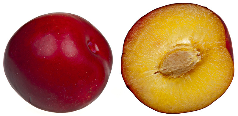 Plum Plum Whole And Sliced A Public Domain Jpg Image
