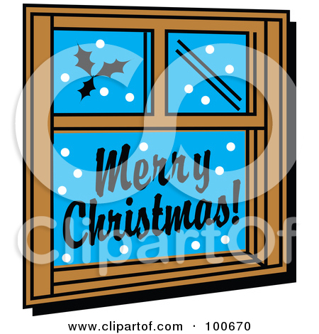 Royalty Free  Rf  Clipart Illustration Of A Black And White Window