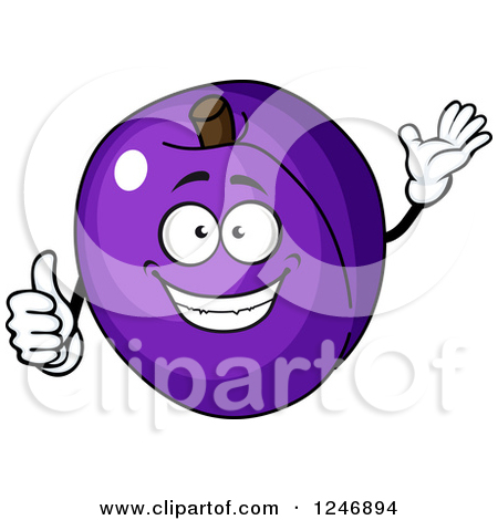 Royalty Free  Rf  Plum Clipart   Illustrations  1