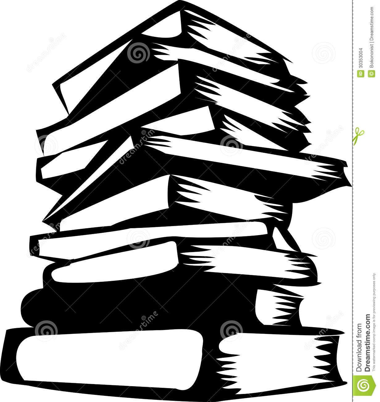 Stack Of Books Clip Art Black And White   Clipart Panda   Free Clipart
