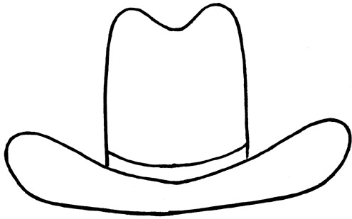 13 Cowboy Hat Outline Free Cliparts That You Can Download To You